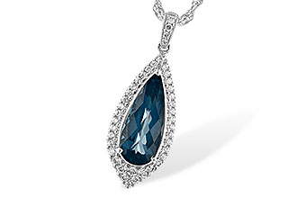 B234-57833: NECK 2.40 LONDON BLUE TOPAZ 2.65 TGW