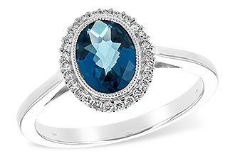D234-56024: LDS RG 1.27 LONDON BLUE TOPAZ 1.42 TGW