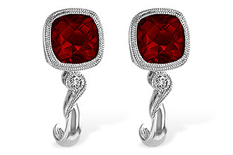 F229-16987: EARRINGS 2.36 GARNET 2.40 TGW