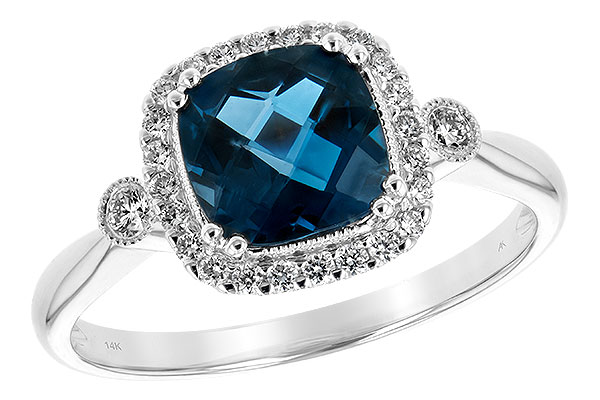 F234-56024: LDS RG 1.62 LONDON BLUE TOPAZ 1.78 TGW