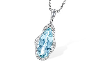F235-51487: NECK 3.97 AQUAMARINE 4.20 TGW