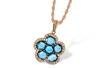 L232-76969: NECK 1.80 ROSE CUT BLUE TOPAZ 1.95 TGW