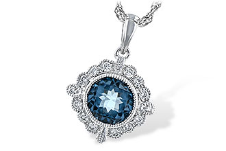 L234-57869: NECK .98 BLUE TOPAZ 1.10 TGW